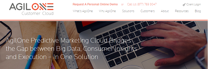 AgilOne's predictive cloud  solutions are on the cutting edge of marketing technology.