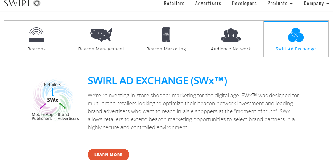 Swirl's programmatic ad exchanger is an innovative part of its beacon marketing platform.
