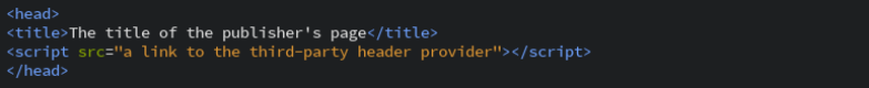 header bidding JavaScript code