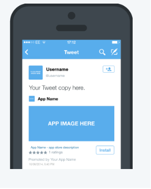 Twitter app download ad format