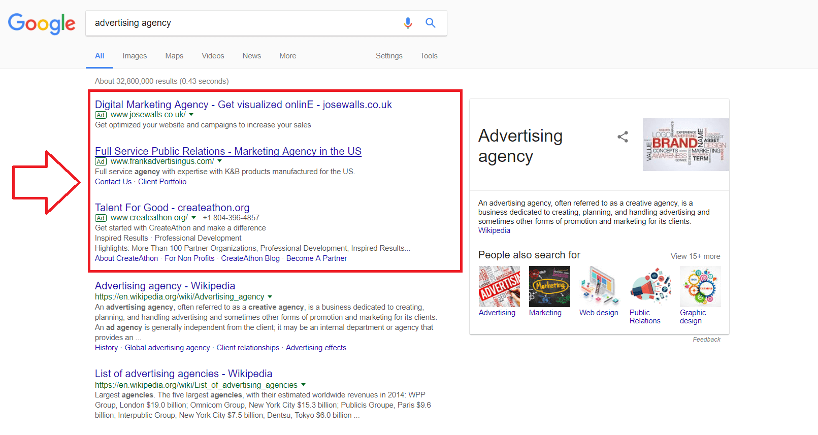 Anuncios de búsqueda