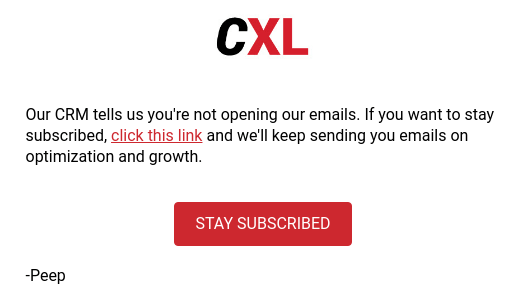 cxl email automation