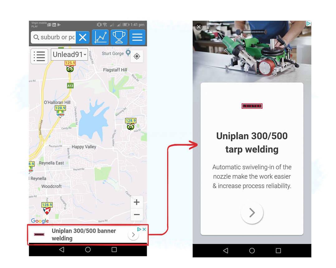 Ejemplo de in-app